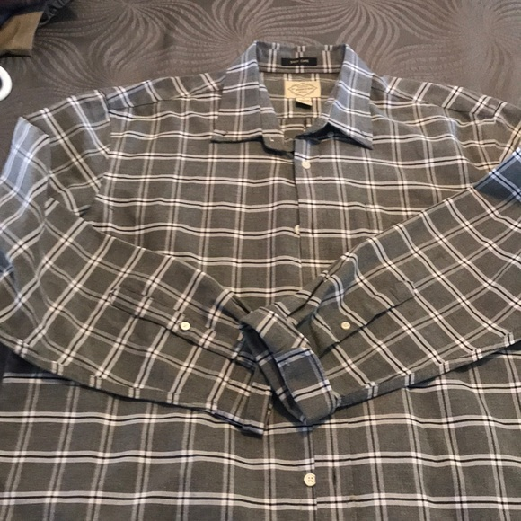 St. John's Bay Other - Casual grey checked dress shirt